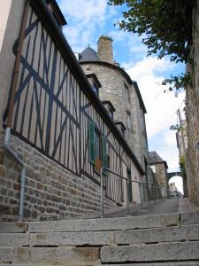 Maisons à colombages dans la cité médiévales de Domfront