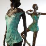 Sculptures de danseuses de Sue Riley, invitée d'honneur de l'édition 2015 du Salon François Hubert-Benoist à Domfront.à D