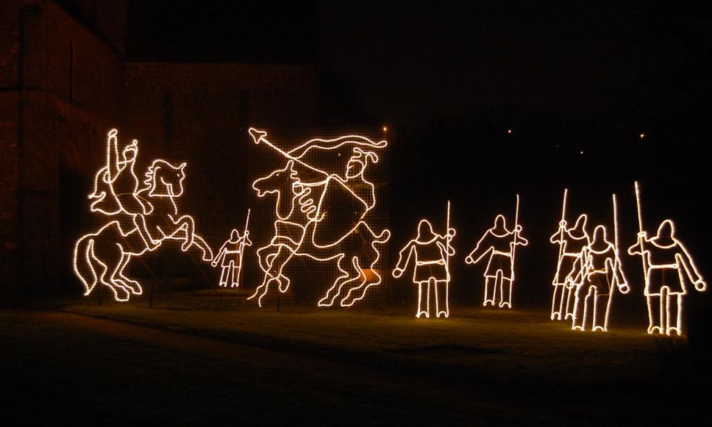 illuminations de Noël à Domfront.