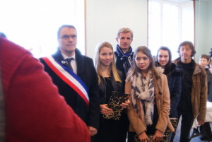 Des récompenses ont été distribuées, par le maire Bernard Soul, aux les collégiens qui ont participé au concours de la Résistance lors de la cérémonie du 11 novembre 2015