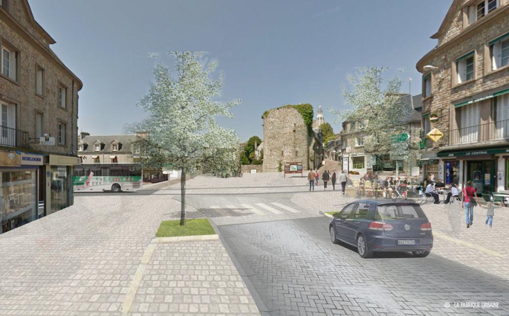 Le carrefour de la porte d'Alençon tel qu'imaginé par le cabinet d'urbanisme