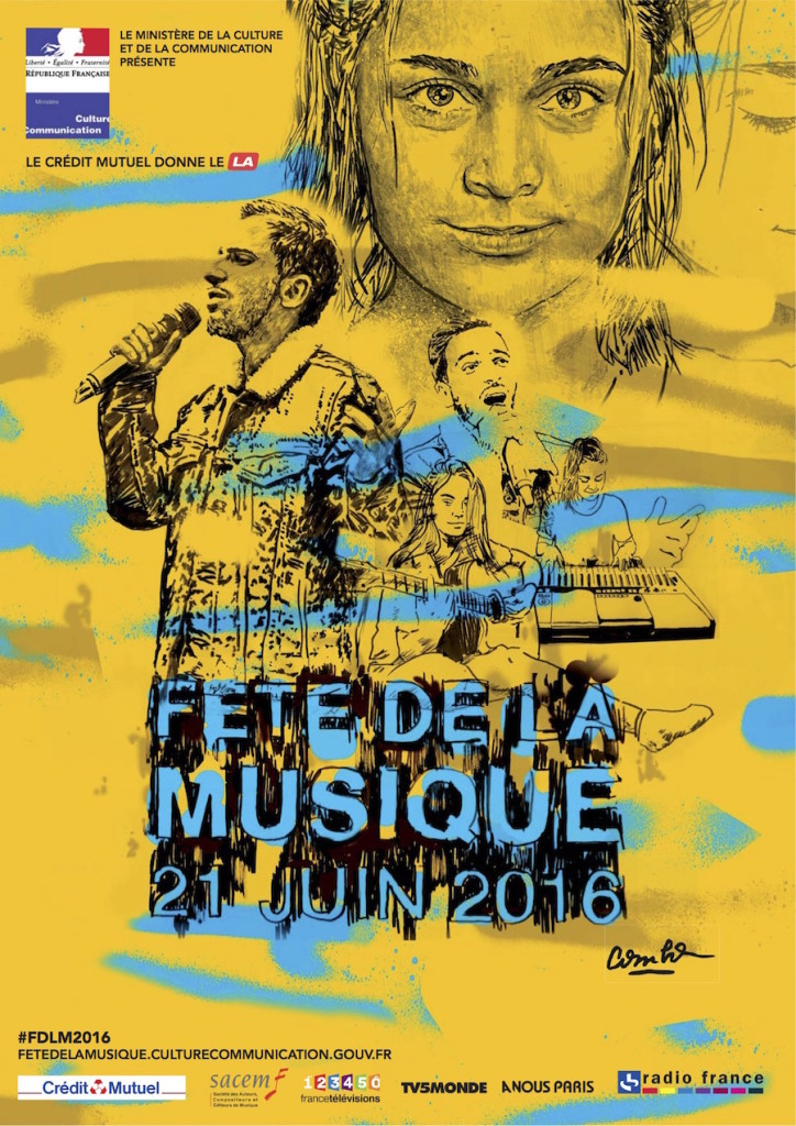 affiche officielle fête de la musique 2016