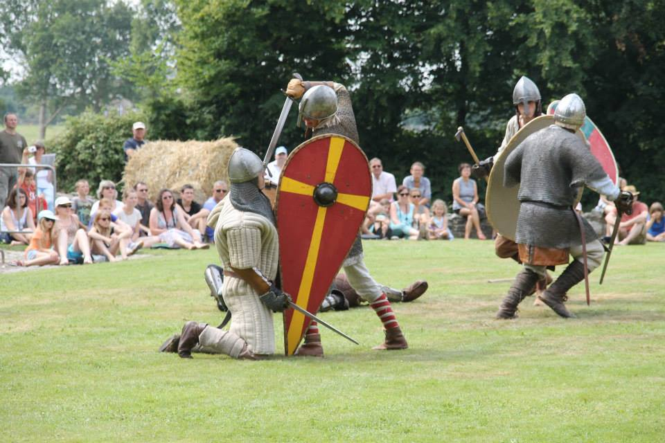 La troupe Histoire normande en action