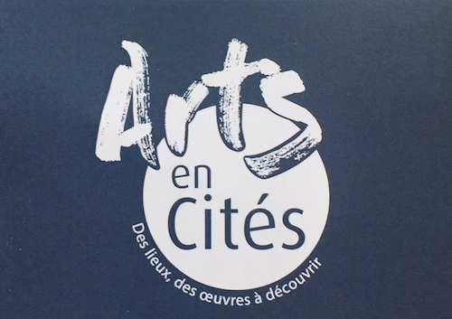 Affiche Arts en Cités, expositions d'art contemporain durant l'été 2016 dans différentes ville de l'Orne