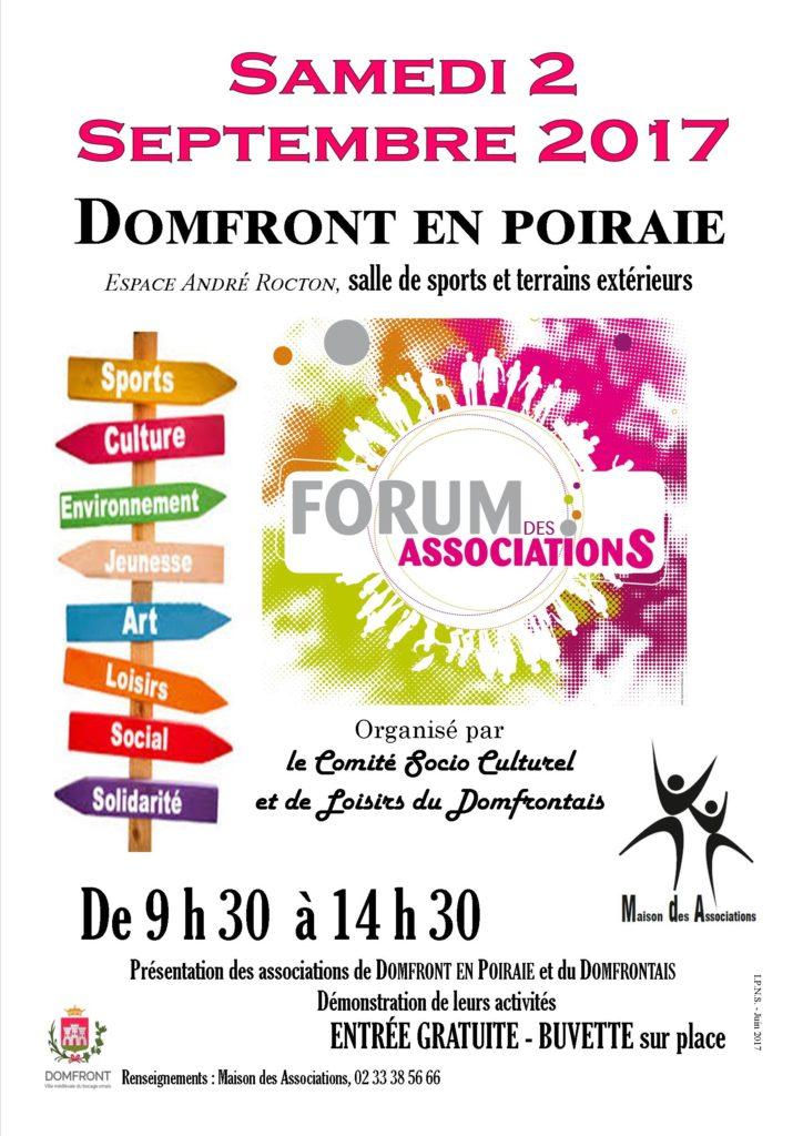 affiche forum assocation - fond blanc - a3