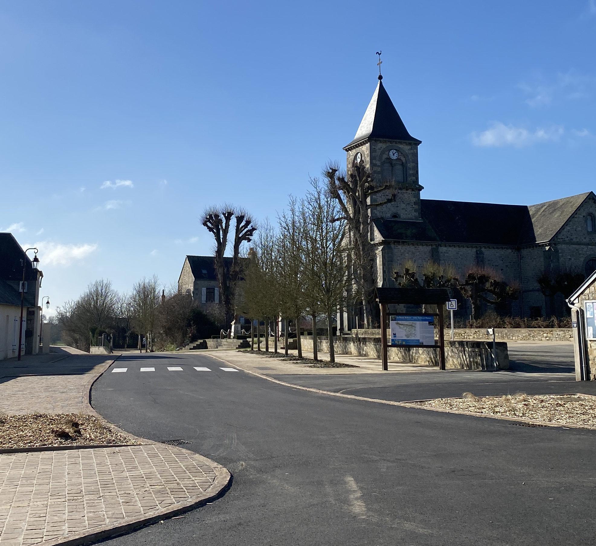 Un nouvel aménagement pour le bourg de Rouellé